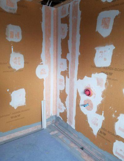Carrelage Rive-Sud - Préparation de mur et de sol pour la douche