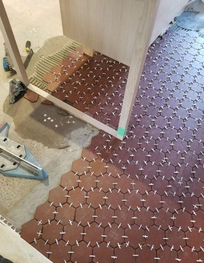 Carrelage Rive-Sud - Avancement de plancher de céramique